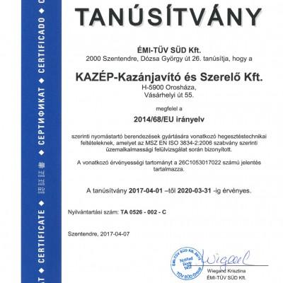 KAZÉP KFT 2014-68 EU